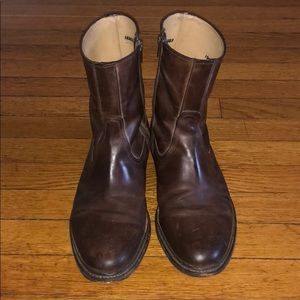 f7ac9941be0 Men's Frye James Inside Zip ankle leather boots